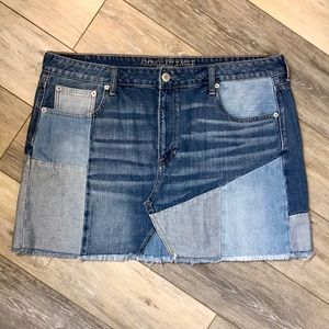 American Eagle | NWOT Denim Patchwork Skirt